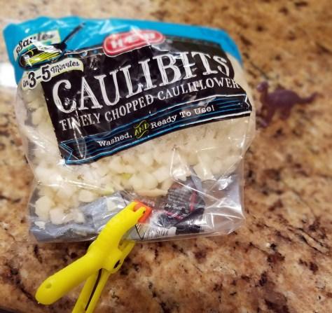 Shrimp fried 'rice' - caulibits