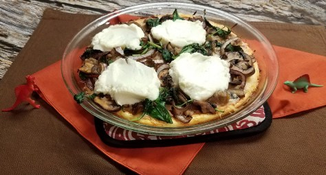 Sausage, Mushroom and Onion Quiche-Pizza