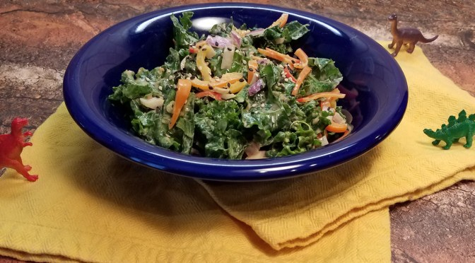 Peanutty Kale Salad