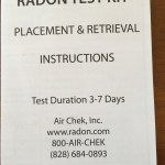 Radon Kit instruction