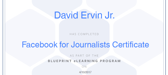 Facebook For Journalists Certificate – Quick review