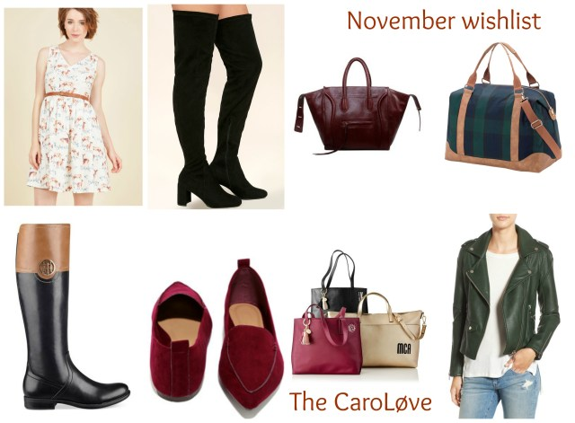 the carolove November wishlist