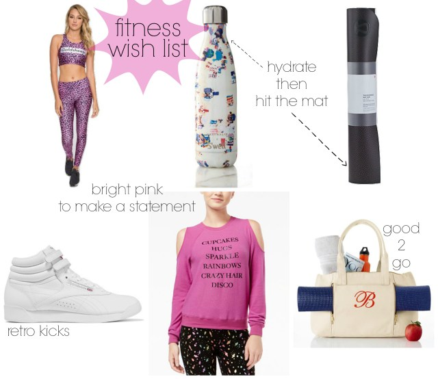 the carolove fitness wish list