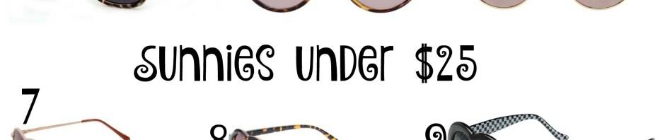 the carolove sunnies under 25