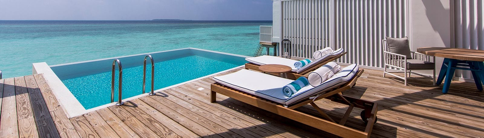 Room with lagoon view at Amilla Fushi