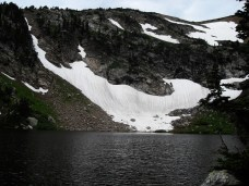 One of four crater lakes located in the Roosevelt National Forest.