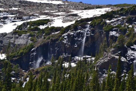 Waterfalls past Fern Lake - Rocky Mountain National Park