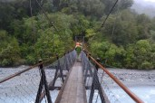 We had to cross this cool hanging bridge while hiking to Franz Josef Glacier