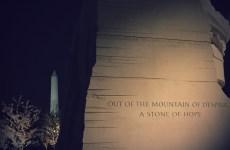 Cool shot of MLK Memorial