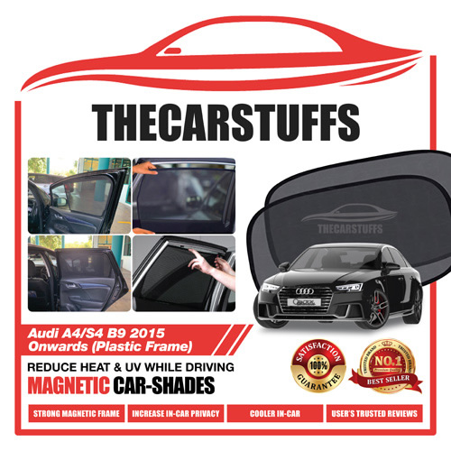 Audi Car Sunshade for A4/S4 B9 2015 Onwards (Plastic Frame)