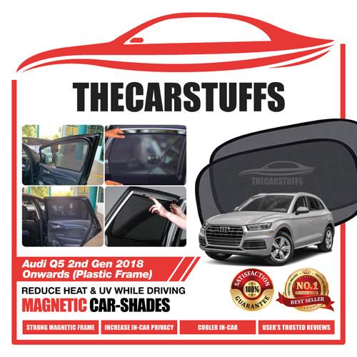 Audi Car Sunshade for Q5 2nd Gen 2018 Onwards (Plastic Frame)