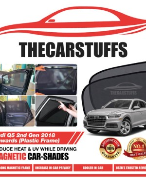 Audi Car Sunshade for Q5 2nd Gen 2018 Onwards (Plastic Frame)