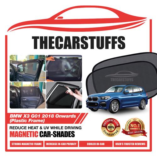 BMW Car Sunshade for X3 G01 2018 Onwards (Plastic Frame)