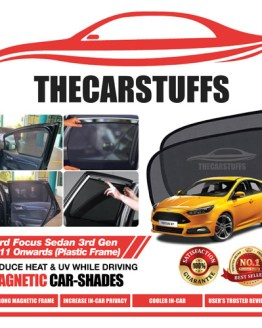 Ford Car Sunshade for Focus Sedan 3rd Gen 2011 Onwards (Plastic Frame)