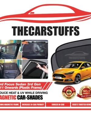 Ford Car Sunshade for Focus Sedan 3rd Gen 2011 Onwards (Plastic Frame)