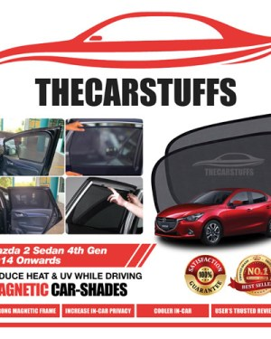 Mazda 2 Car Sunshade for Sedan 4th Gen 2014 Onwards