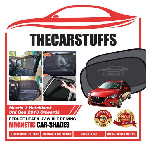Mazda 3 Car Sunshade for Hatchback 3rd Gen 2013 Onwards