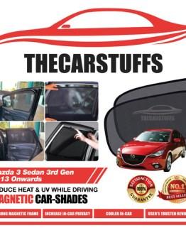 Mazda 3 Car Sunshade for Sedan 3rd Gen 2013 Onwards