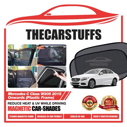 Mercedes Car Sunshade for C Class W205 2015 Onwards (Plastic Frame)
