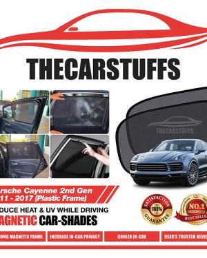 Porsche Car Sunshade for Cayenne 2nd Gen 2011-2017 (Plastic Frame)