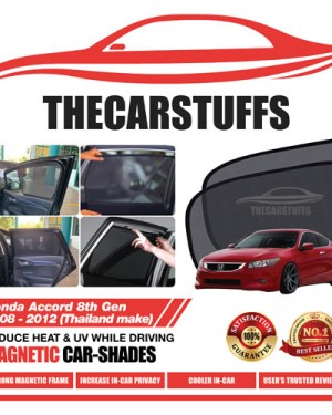 Honda Car Sunshade for Accord 8th Gen 2008 - 2012 (Thailand make) (Plastic Door Frame)
