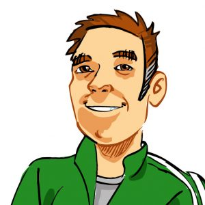 Alan Cox Blog caricature face only