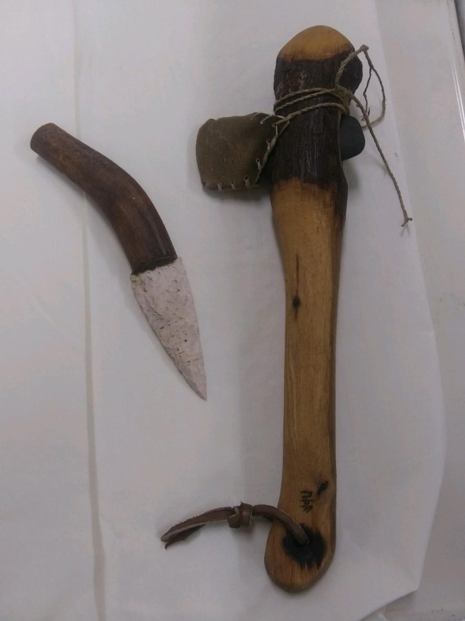 AX AND KNIFE MADE BY PETE ATKINS