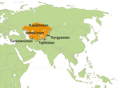 BLOG MAP CENTRAL ASIA
