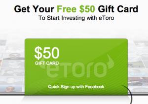 eToro $50 Gift Card