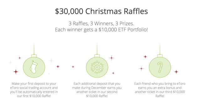 eToro Christmas Bonus