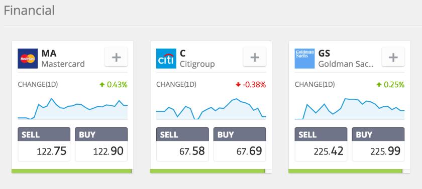 Stocks on eToro