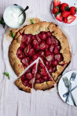 Strawberry Galette with basil creme fraiche-3