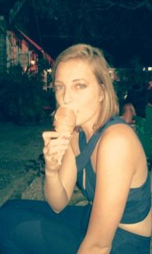 Licking away :)