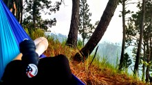 """Relaxing at """"hilltop"""" above my house. This is not a promotional Peace Corps picture (but maybe it should be) :P"""