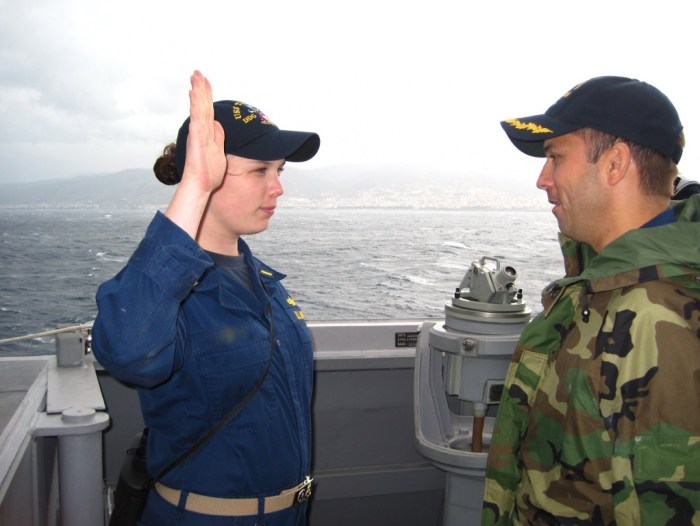 Straits of Messina, getting promoted to LTJG. - Version 2