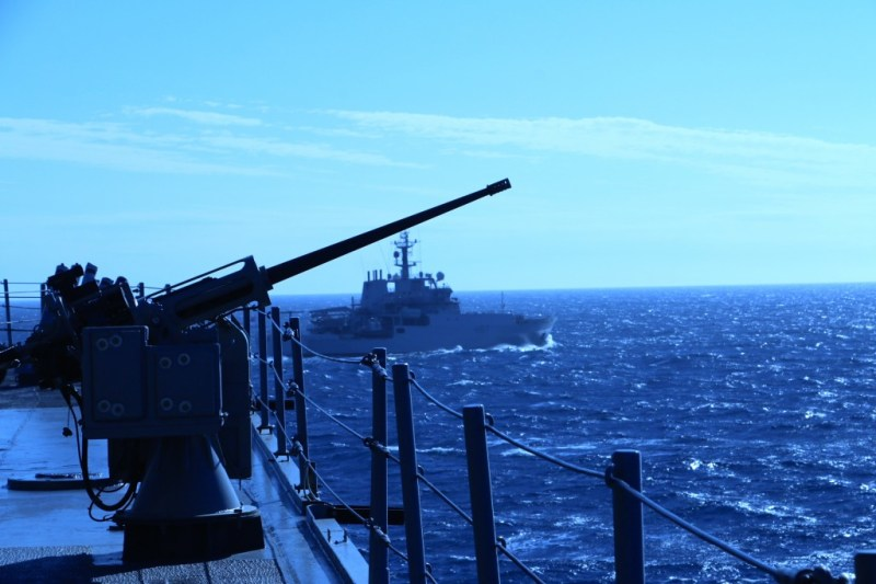 Naval Exercise off the coast of France