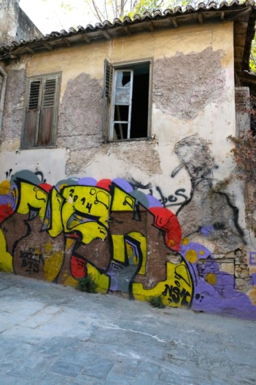 The graffiti gives Athens so much character