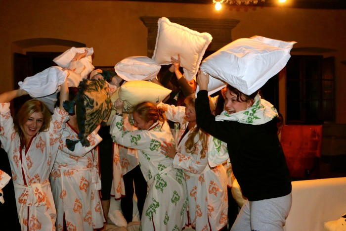 Pillow fight in a Tuscan Castle, All Girls! 15