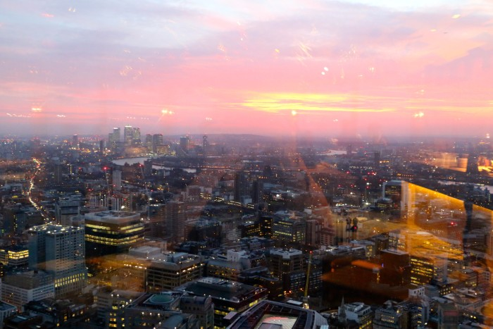 Sunrise View Duck and Waffle, London 2