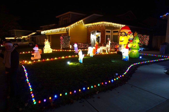 Holiday Lights Pebble Creek Drive Rocklin, California