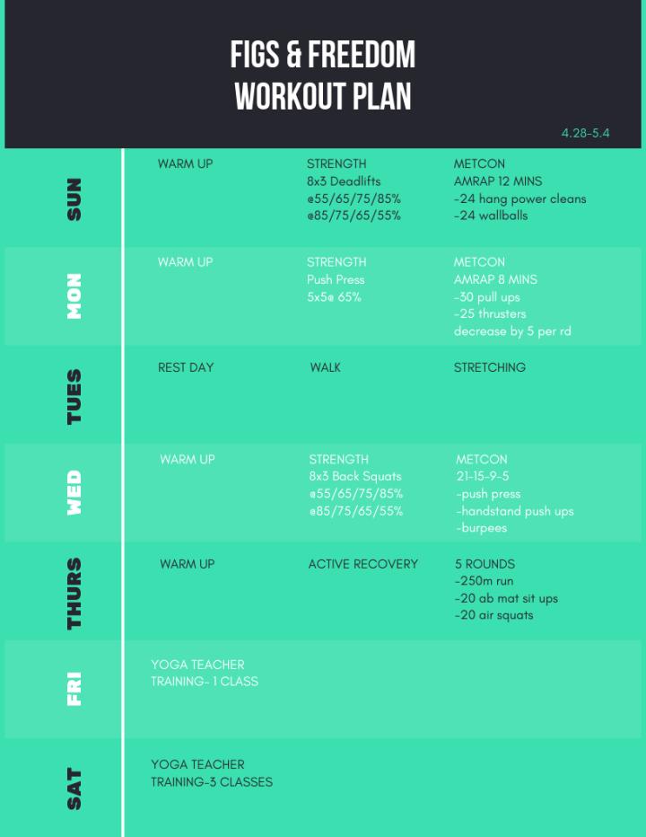 workout plan 4.28