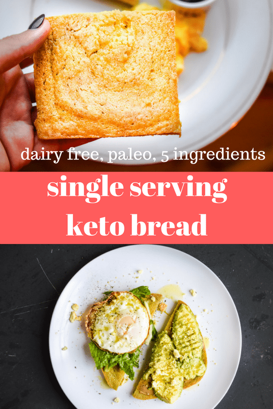 Single Serving Keto Bread Paleo Gluten Free Grain Free