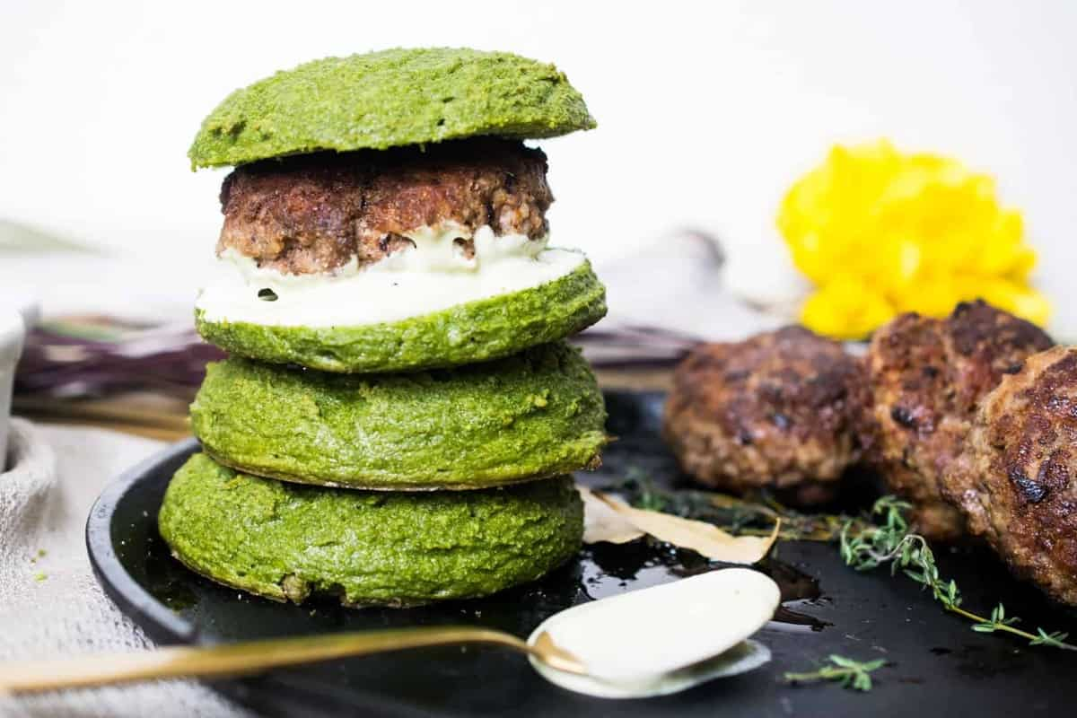 Veggie Loaded Keto Burger Buns (Nut Free, Dairy Free, Paleo)