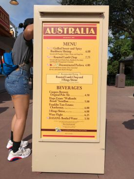 Eat This Australia Booth At Epcot S International Food And Wine Festival The Castle Run