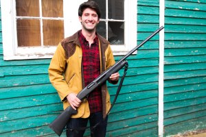 Colby Diamond poses with his gun. Photo by Veronica Spann