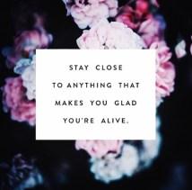 stayclosetoanythingthatmakesyougladyourealive