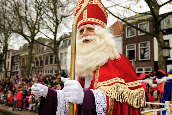 A man portraying St. Nicholas arrives in Utrecht, the Netherlands, in this photo from 2008. Istockphoto.com