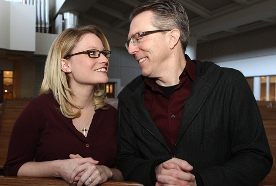 Krystal Schultz and Jeffrey Stamp are planning a June wedding in Ireland, but first they'll join the Catholic Church at the Easter Vigil Mass April 19 at St. Bartholomew in Wayzata. Dave Hrbacek / The Catholic Spirit
