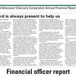 Archdiocesan Chancery Corporation Annual Financial Report