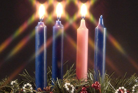 bigstock-Advent-Candle-Of-Joy